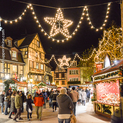 The magic of Christmas operates in Colmar at any time of the day but especially at night.
