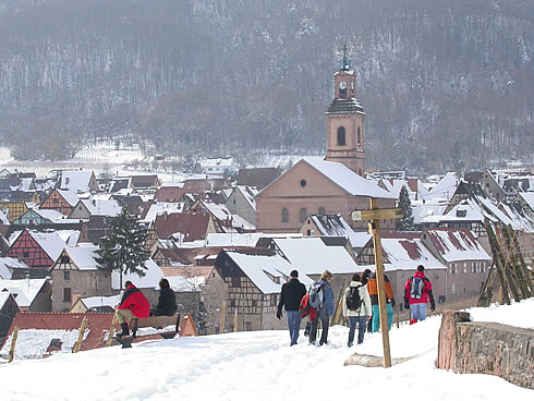 Riquewihr is a wonderful holiday spot in all seasons. It is possible to make gorgeous walks in Winter. Riquewihr is the perfect base to enjoy the Christmas celebrations all over Alsace - End of November to beginning of January