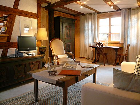 Riquewihr: the lounge of The Sentinel ***** apartment. Big or small, our apartments are beautifully equipped and decorated and will offer you a comfortable rest after a busy day. Just to make your stay in Riquewihr and Alsace even more memorable!